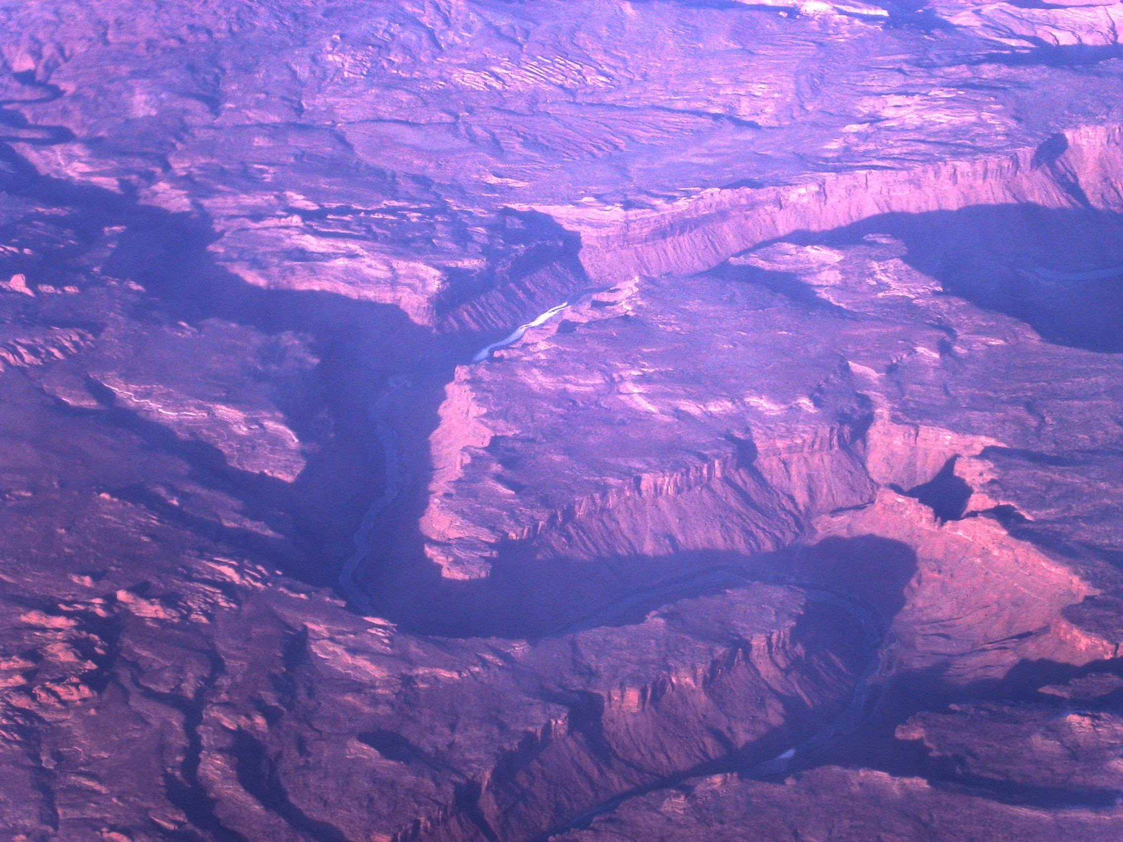 Canyon from airplane