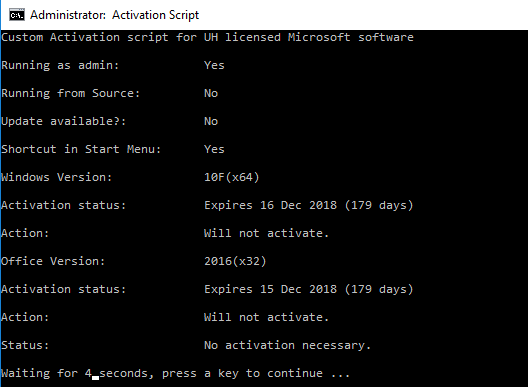activating microsoft software