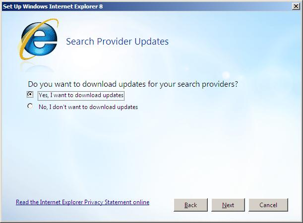 how to change search provider