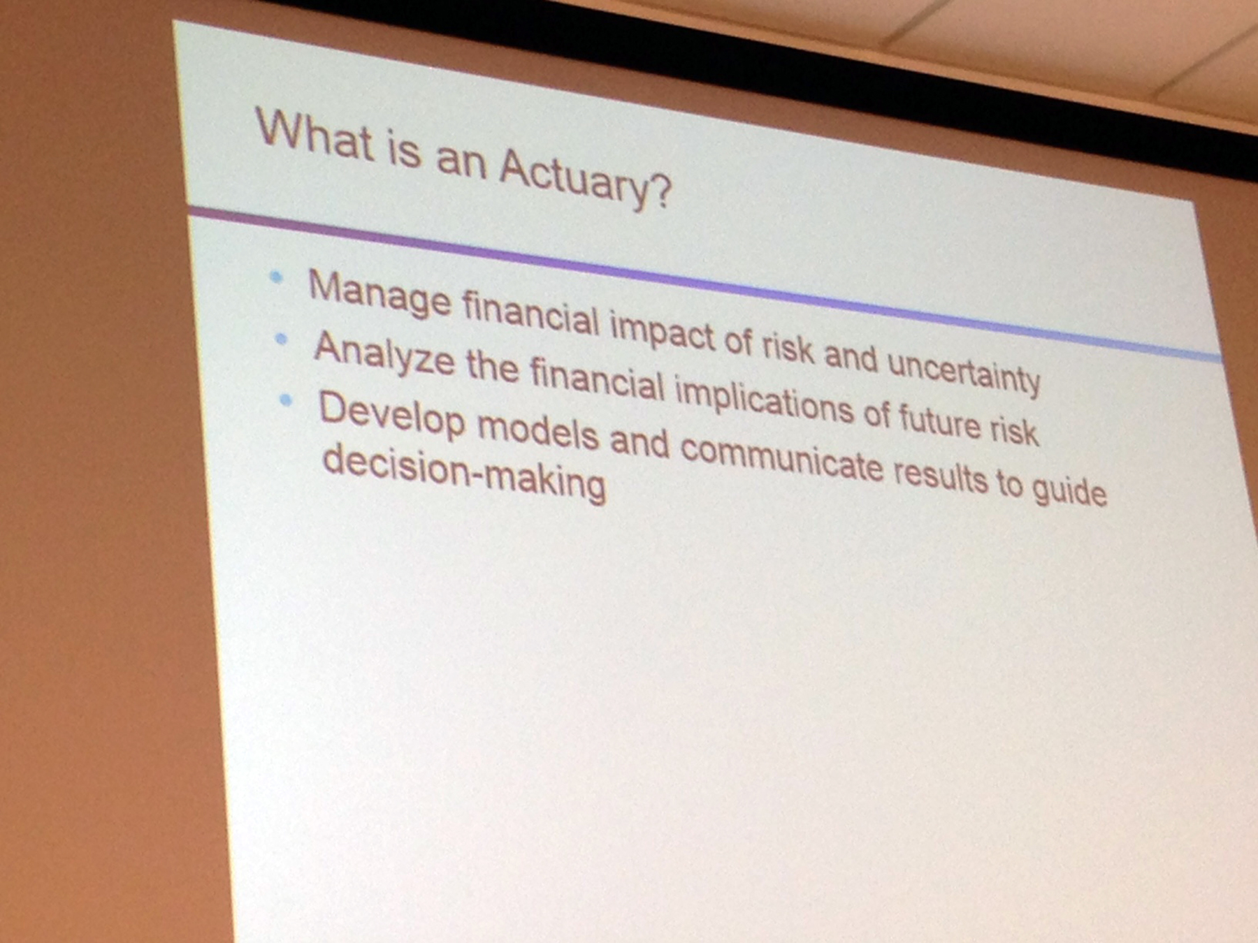 What is an Actuary